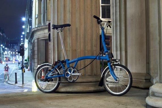 """Organizatorių nuotr./""""Brompton"""" dviratis"""