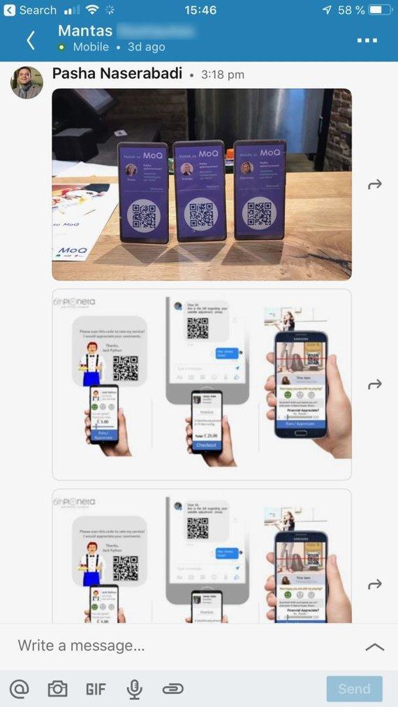 """15min skaitytojo nuotr./Iraniečių verslininkas pasipiktino pamatęs įgyvendintą savo idėją – susirašinėjimas su """"Telia"""" atstovu"""