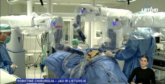 LRT TV stop kadras/robotinė sistema, kurią naudoja Klaipėdos universitetinė ligoninė