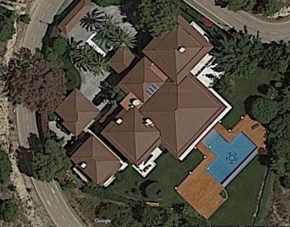 """Google Maps"" nuotr./V.Tomaševskio įmonės vila ""Altea Hills"" kvartale, Ispanijoje"