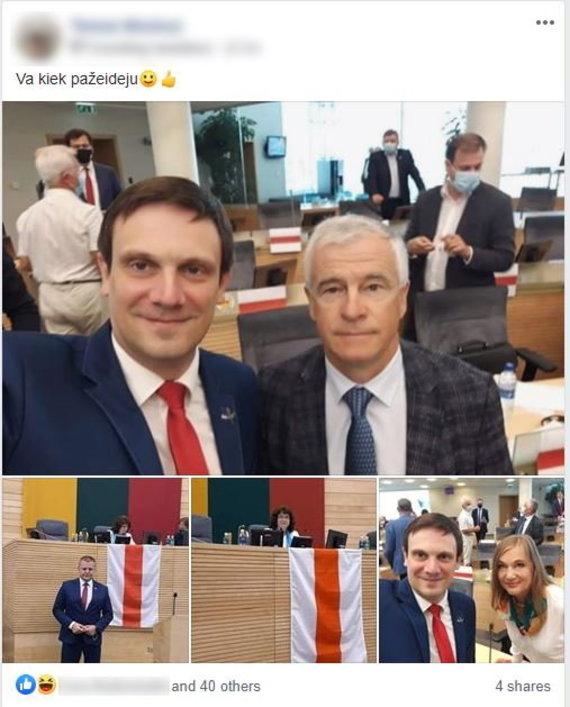 """Facebook"" nuotr./Įrašas feisbuke"