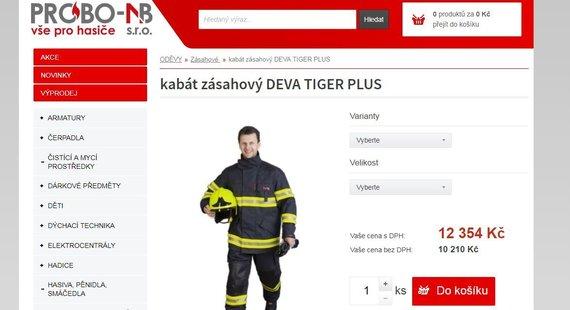 "probo-nb.cz/""Tiger Plus"" kostiumo kaina probo-nb.cz portale gerokai mažesnė"