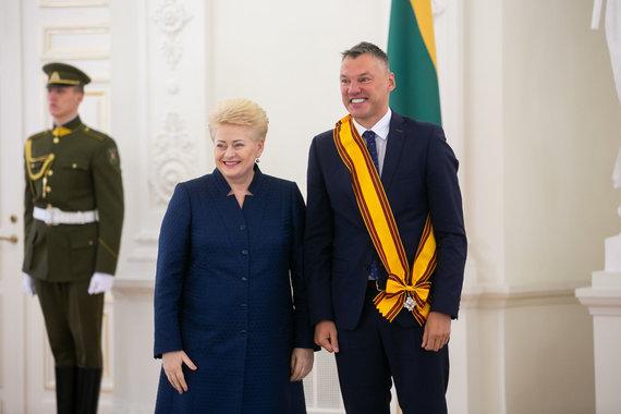 Žygimanto Gedvilos / 15min nuotr./Dalia Grybauskaitė ir Šarūnas Jasikevičius