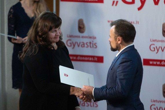 """Žygimanto Gedvilos / 15min nuotr./Lietuvos asociacijos """"Gyvastis"""" veiklos 25 – mečio minėjimo akimirka"""