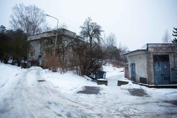 Žygimanto Gedvilos / 15min nuotr./Centre – užtverta Miglos g., kurią statytojai žada platinti, kairėje – aistras kurstantis pastatas