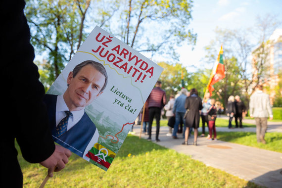 """Žygimanto Gedvilos / 15min nuotr./Judėjimo """"Lietuva yra čia"""" akcija """"Už laisvuosius debatus"""""""