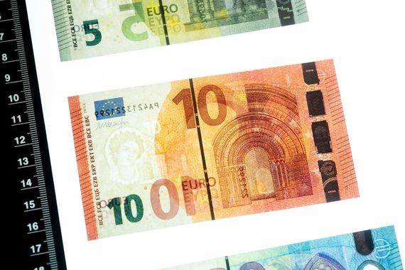 Žygimanto Gedvilos / 15min nuotr./Dešimties eurų banknotas