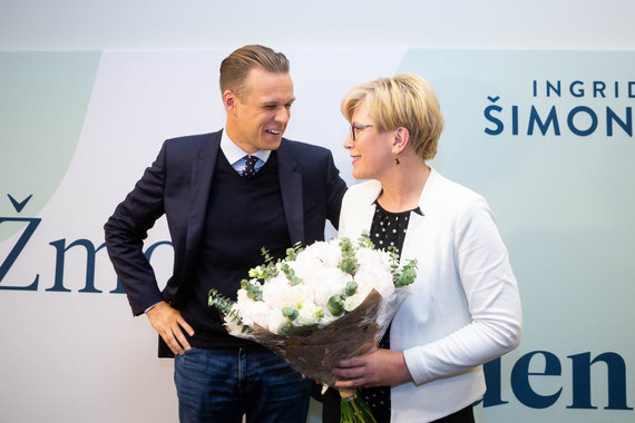 Žygimanto Gedvilos / 15min nuotr./Gabrielius Landsbergis ir Ingrida Šimonytė
