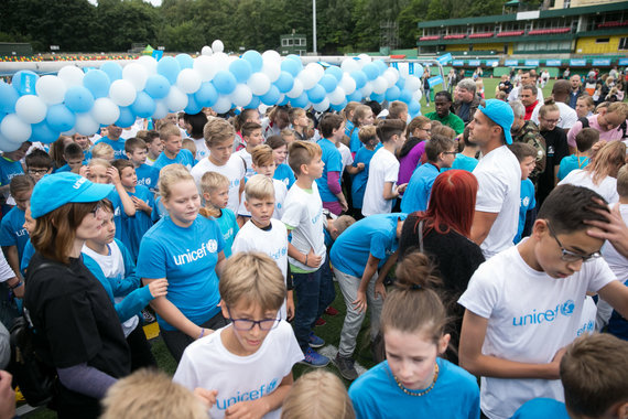 Žygimanto Gedvilos / 15min nuotr./UNICEF vaikų bėgimo akimirka
