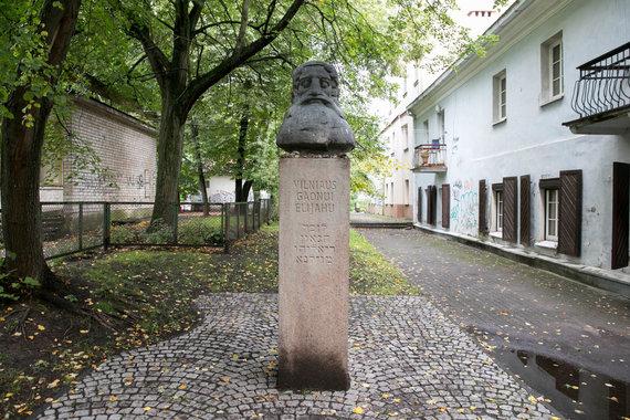 Žygimanto Gedvilos / 15min nuotr./Paminklas Vilniaus Gaonui