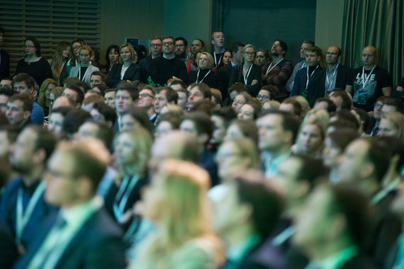 "Žygimanto Gedvilos / 15min nuotr./Roberto J.Shillerio pranešimas konferencijoje ""Fintech"""
