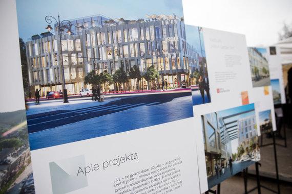 """Žygimanto Gedvilos / 15min nuotr./""""Hilton"""" viešbučio, verslo centro ir daugiabučių projekto statybos"""