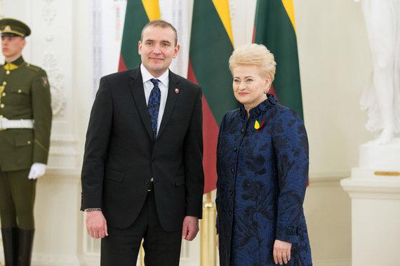 Žygimanto Gedvilos / 15min nuotr./Guðni Th. Jóhannesson ir Dalia Grybauskaitė