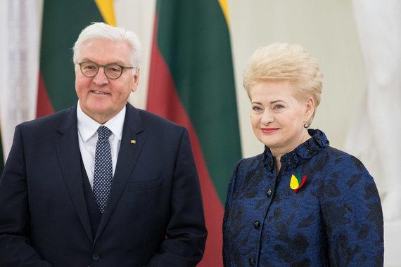 Žygimanto Gedvilos / 15min nuotr./Frankas-Walteris Steinmeieris ir Dalia Grybauskaitė