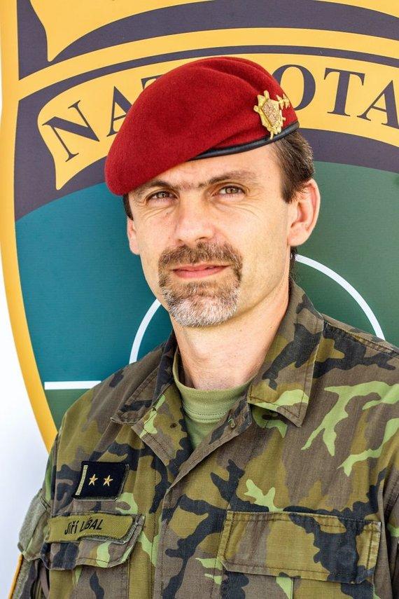 Čekijos kariuomenės nuotr. /Čekijos kontingento NATO priešakinių pajėgų batalione vadas, pulkininkas leitenantas Jiří Líbalas