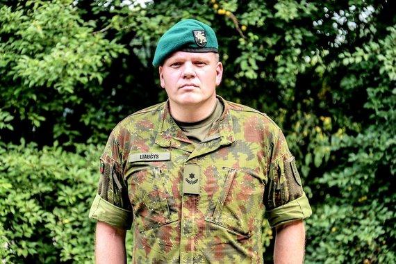 Gr. Monikos Zabinaitės nuotr./Margirio bataliono vadas mjr. Ramūnas Liaučys
