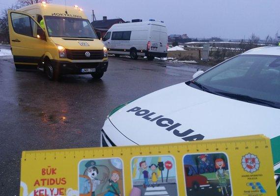 Kauno apskr. VPK nuotr./Policija Kauno rajone tikrino mokyklinius autobusus