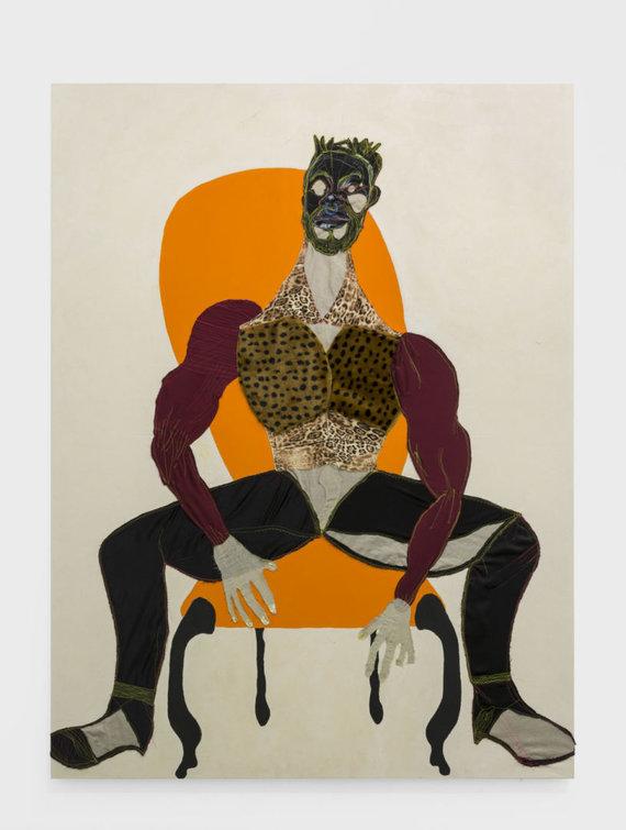 """Lewben Art Foundation"" kolekcija/Tschabalala Self, Mane, 2016. Drobė, mišri technika, 243.20x183.30 cm."