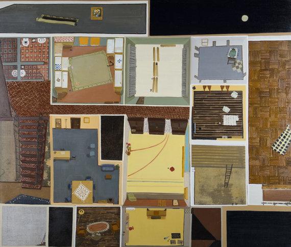 """Lewben Art Foundation"" kolekcija/Vita Opolskytė, ""Edukacinis planas nr. 2"", 2015. Drobė, aliejaus, 137x158 cm."