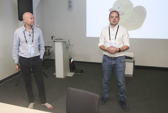 Projekto partnerio nuotr./Alexas Gibbas ir Arvydas Pleta