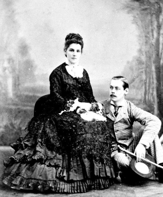 Leidyklos nuotr./W.Churchillio tėvai Jenny ir Randolphas.