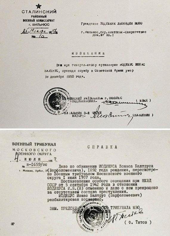 Vytauto Daraškevičiaus nuotr./Generolo Jono Juodišiaus žmona 1957 metais bandė domėtis savo vyro likimu