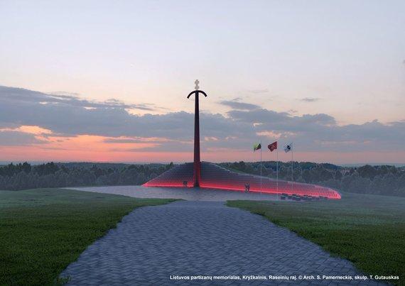 Organizatorių nuotr./Kryžkalnio partizanų memorialas