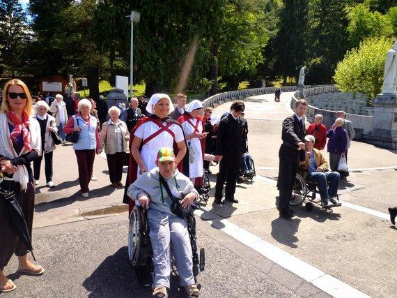 Projekto partnerio nuotr./Neįgaliųjų piligriminė kelionė