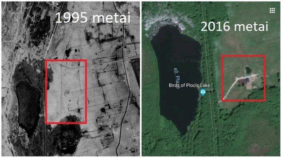 Vaizdas sklype: 1995 ir 2016 metai