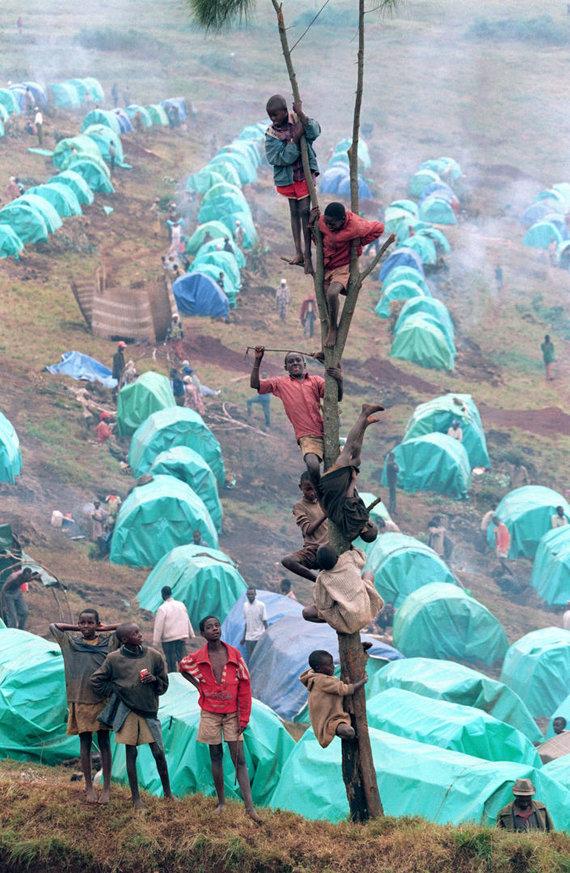 """AFP/""""Scanpix"""" nuotr./Tutsių pabėgėliai"""