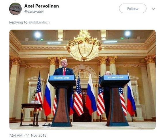 """""""Twitter"""" nuotr./Donaldas Trumpas ir Vladimiras Putinas"""
