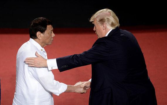 """Scanpix""/AP nuotr./Rodrigo Duterte ir Donaldas Trumpas"