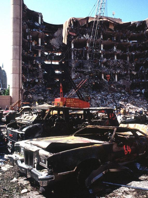 """""""Wikipedia.org"""" nuotr./Išpuolis Oklahoma Sityje"""