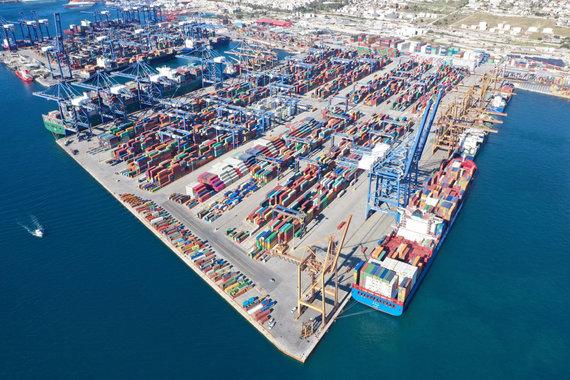 """""""Scanpix""""/""""SIPA"""" nuotr./Pirėjaus uostas Graikijoje"""