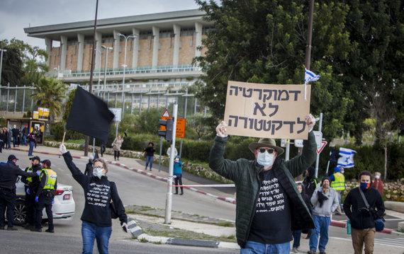 """Scanpix""/AP nuotr./Protestas Jeruzalėje"