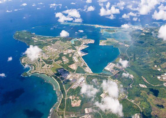 """Reuters""/""Scanpix"" nuotr./Karinė JAV bazė Guame"