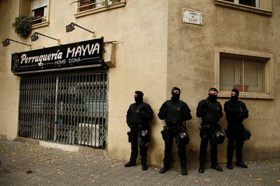 """""""Reuters""""/""""Scanpix"""" nuotr./Partijos """"Liaudies vienybės kandidatūra"""" būstinė Barselonoje"""