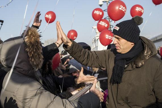 """Scanpix""/AP nuotr./Aleksejus Navalnas Novokuznecke"