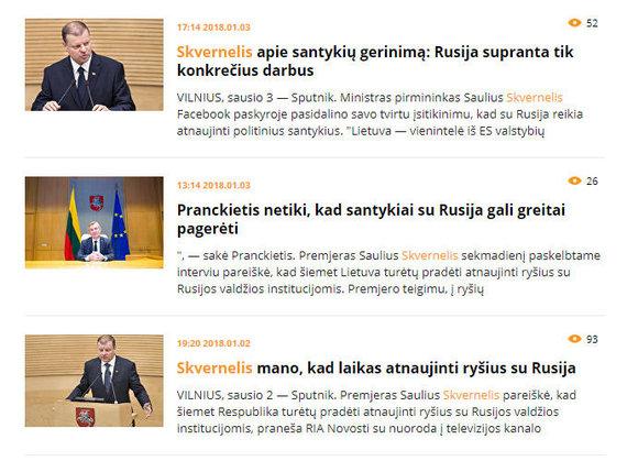 "Ekrano kopija/""Sputnik"" apie Saulių Skvernelį"