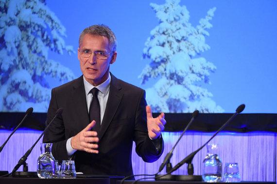 """""""Reuters""""/""""Scanpix"""" nuotr./Jensas Stoltenbergas Švedijoje"""