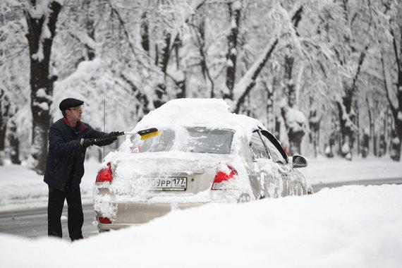 """""""Scanpix""""/AP nuotr./Sniegas Maskvoje"""