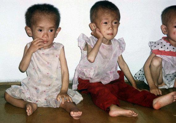 """""""Scanpix""""/AP nuotr./Badaujantys vaikai Šiaurės Korėjoje"""
