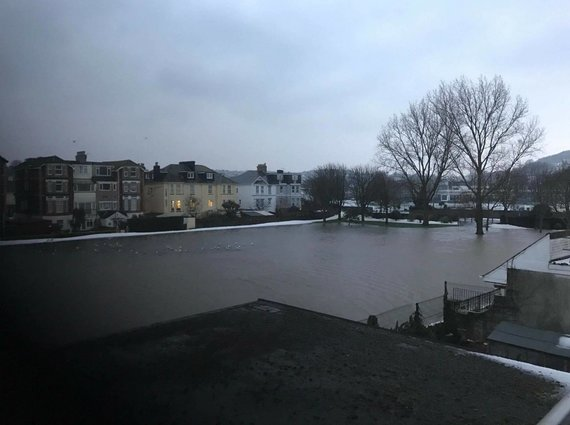 Potvynis Torki miestelyje/Skaitytojos K.Laužikienės nuotr.