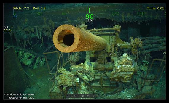 """AFP/""""Scanpix"""" nuotr./JAV lėktuvnešis """"USS Lexington"""""""