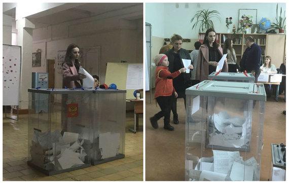 """""""Reuters""""/""""Scanpix"""" nuotr./Balsavimas Ust Džegutoje"""