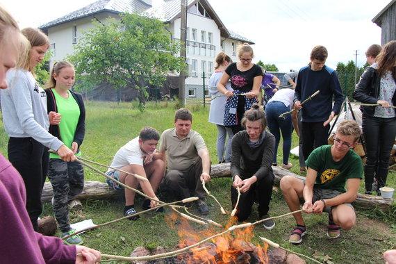 """Dianos Rakauskaitės nuotr./Jaunųjų miško bičiulių vasaros stovyklos """"Mūsų žalioji vasara"""""""