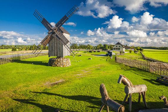"""Kelionių organizatoriaus """"GRŪDA"""" nuotr./Anglos vėjo malūnų kalva, Saremo sala, Estija"""