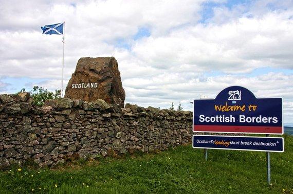 """Kelionių organizatoriaus """"GRŪDA"""" nuotr./Škotijos siena"""