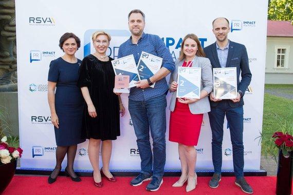 """S.Čirbos nuotr./""""PR Impact awards"""" apdovanojimai"""