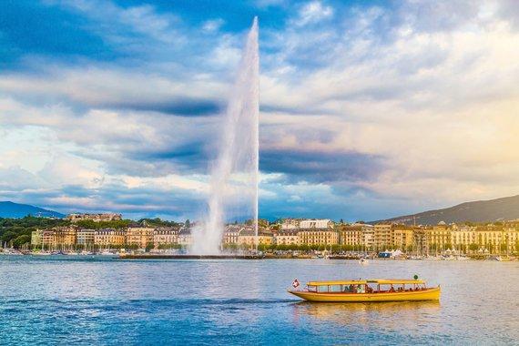 """Kelionių organizatoriaus """"GRŪDA"""" nuotr./Ženevos ežeras, Šveicarija"""
